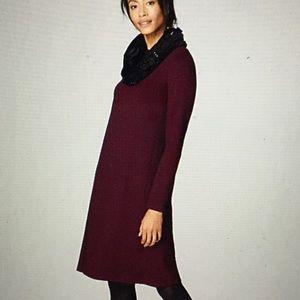 2020 J Jill Wearever Ottoman dress Bordeaux LP (M)